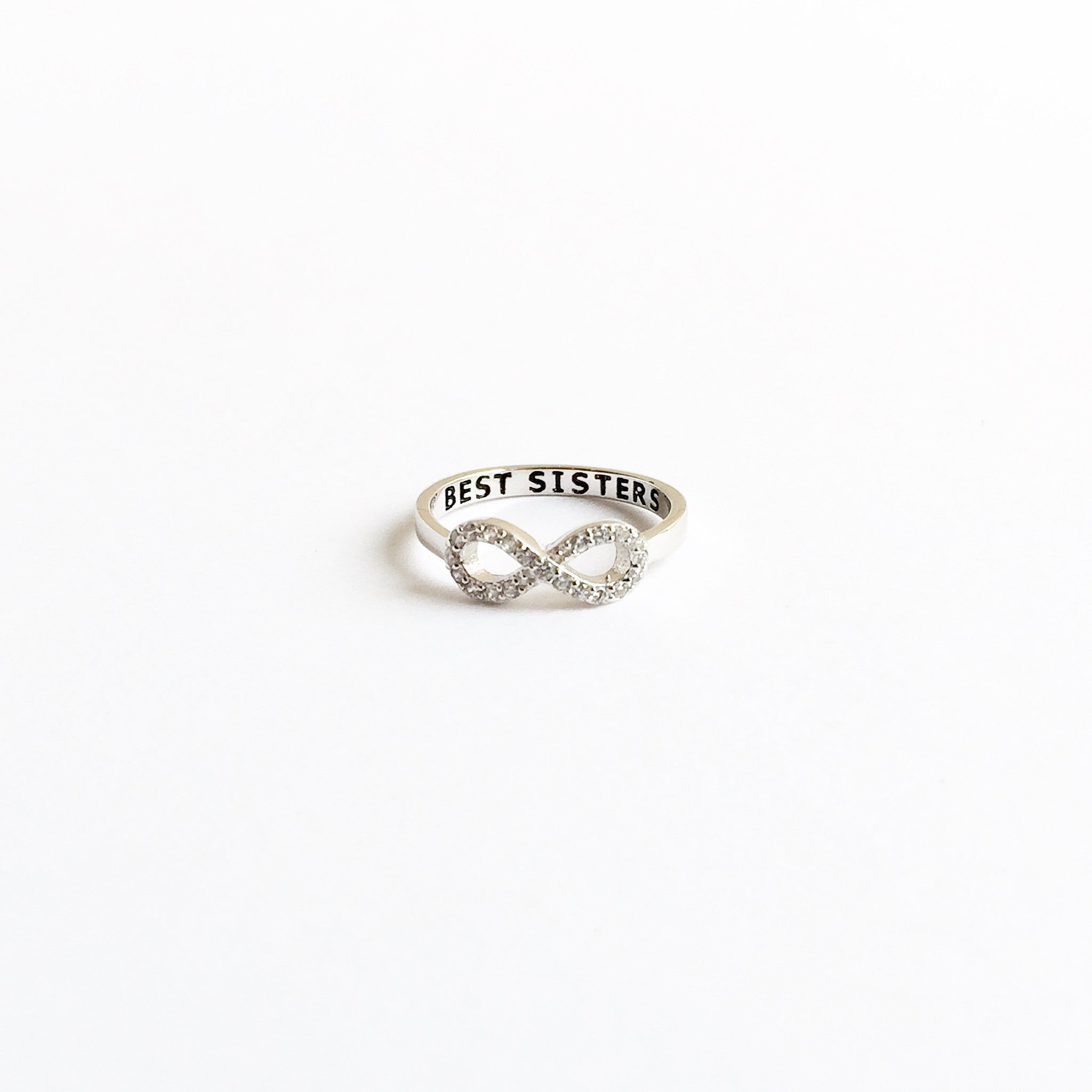 rings pin ring silver sister adult size gold over unisex yellow