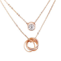 Dainty Rose Gold Necklace - Decorus Collection
