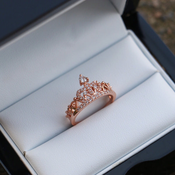 Rose Gold Crown Ring - Decorus Collection