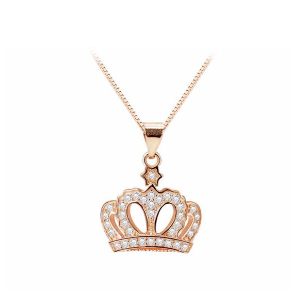 Crown Sterling Silver Necklace - Decorus Collection