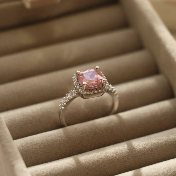 Pink Enchanted Sterling Silver Ring - Decorus Collection