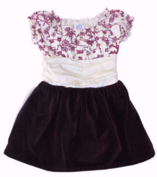 Haname Velvet Girls Dress - more colors - Noko Baby Japanese Inspired baby clothing and girls dresses