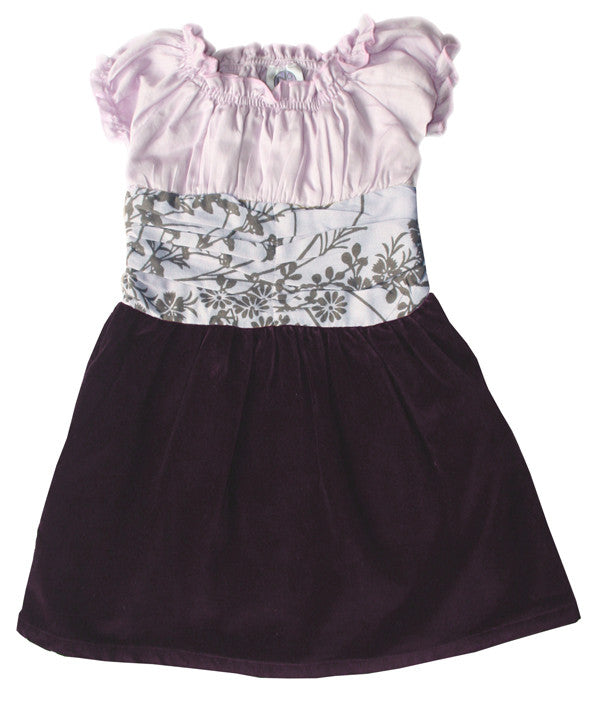Noko Baby Girls Brown Velvet Hanali Dress