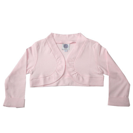Soft pink baby and girls shrug jacket