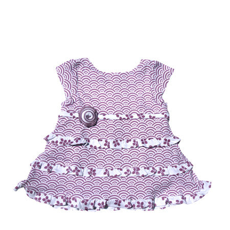 Baby cotton knit baby dress romper