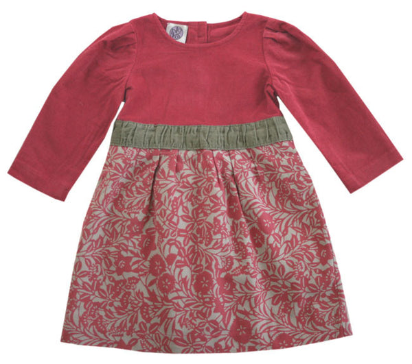 Noko Baby Saga Dress in dusty rose