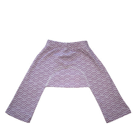 Best cotton knit baby pants in lilac wave