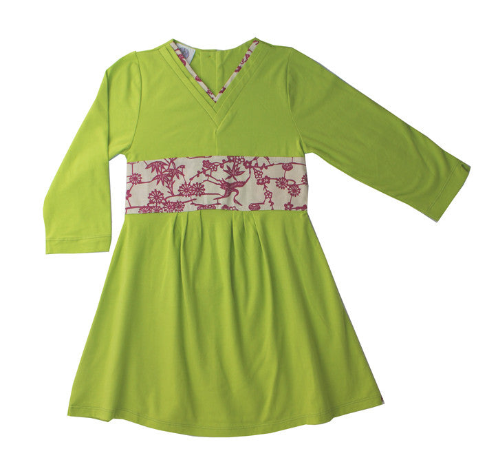 Lime green Japanese children's dress