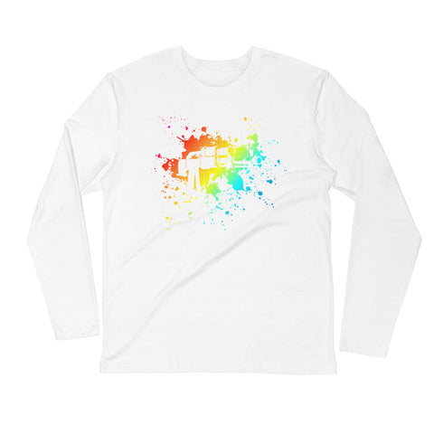 Tie Die AK Long Sleeve Fitted Crew