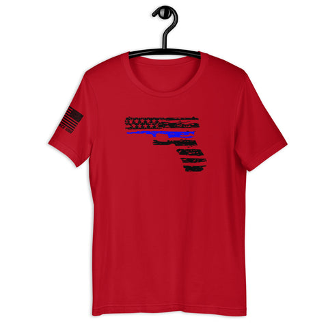 The thin blue line Short-Sleeve Unisex T-Shirt