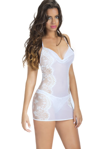 Shirley of Hollywood Silk Chemise, Curvy