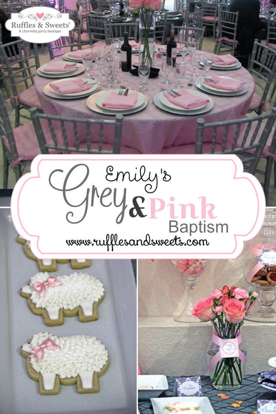 Grey and Pink Baptism