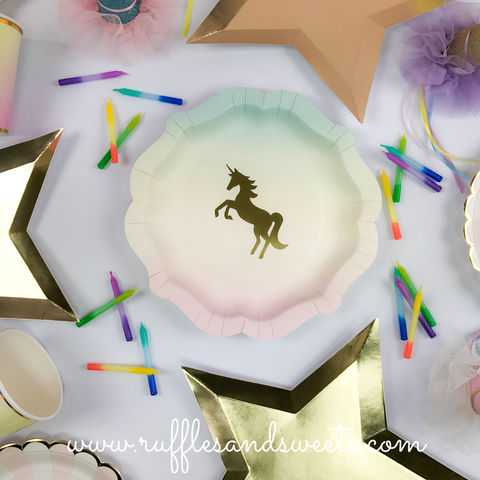 Unicorn, unicorn plates, unicorn party, party supplies