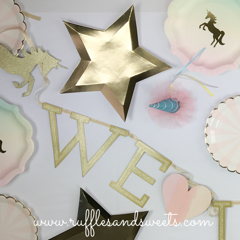 Unicorn garland, unicorn, unicorn party, unicorn party supplies,