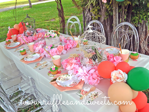 party supplies, balloons, bridal shower