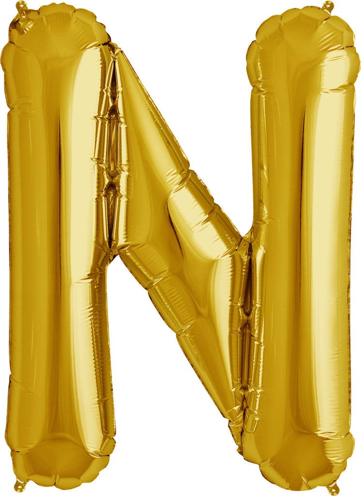 "N - 16"" Gold Balloon"