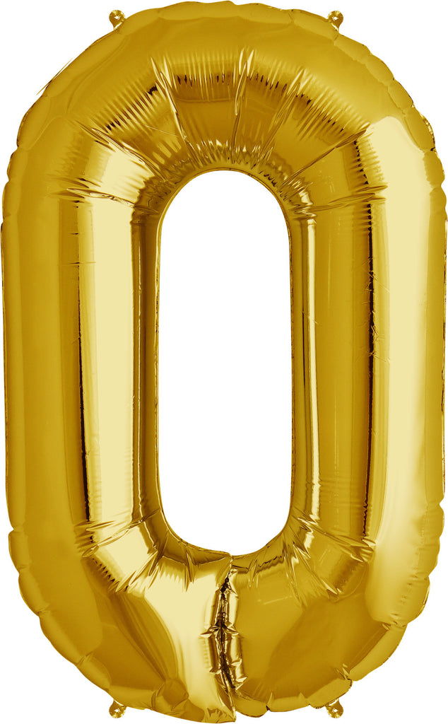 "O - 16"" Gold Balloon"