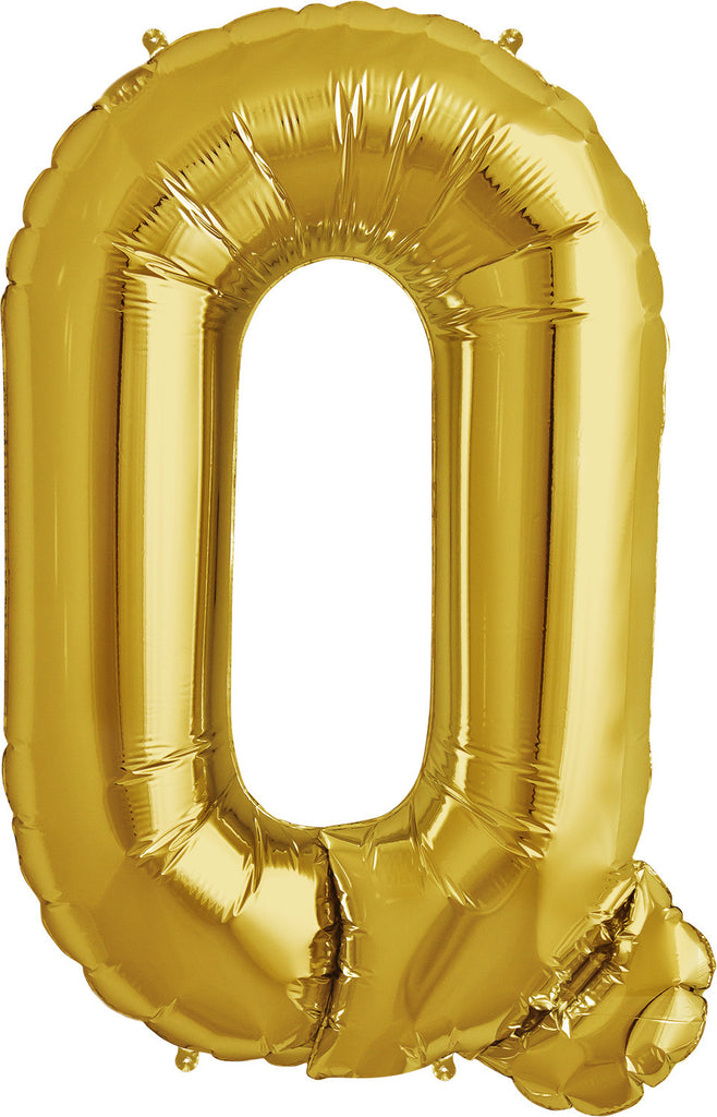 "Q - 16"" Gold Balloon"