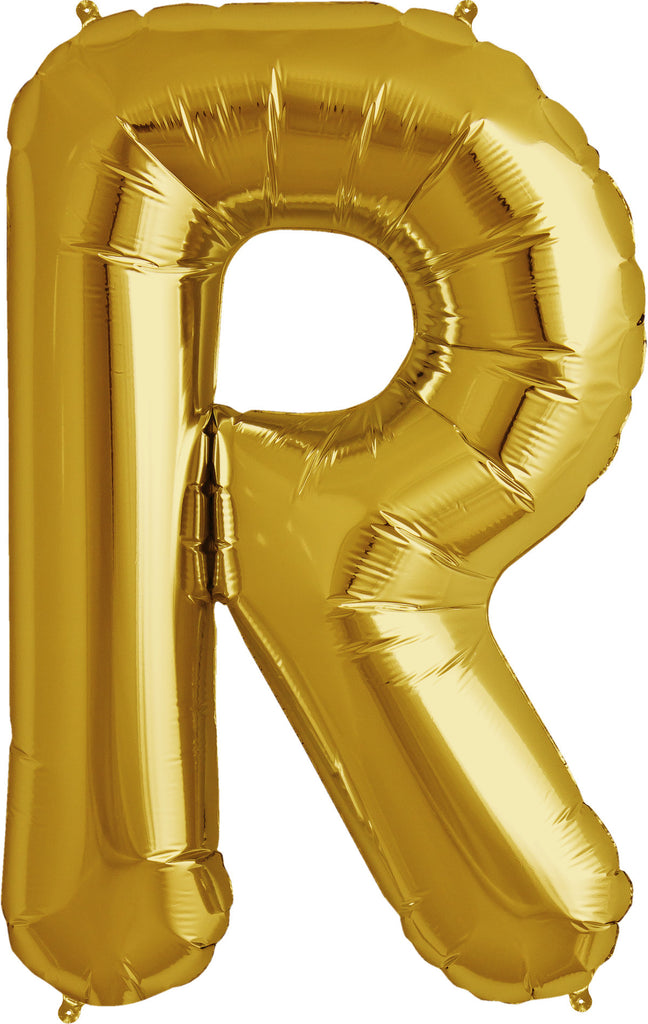"R - 16"" Gold Balloon"