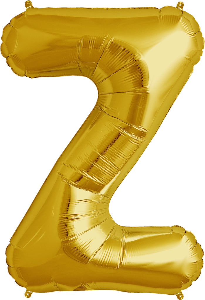"Z - 16"" Gold Balloon"