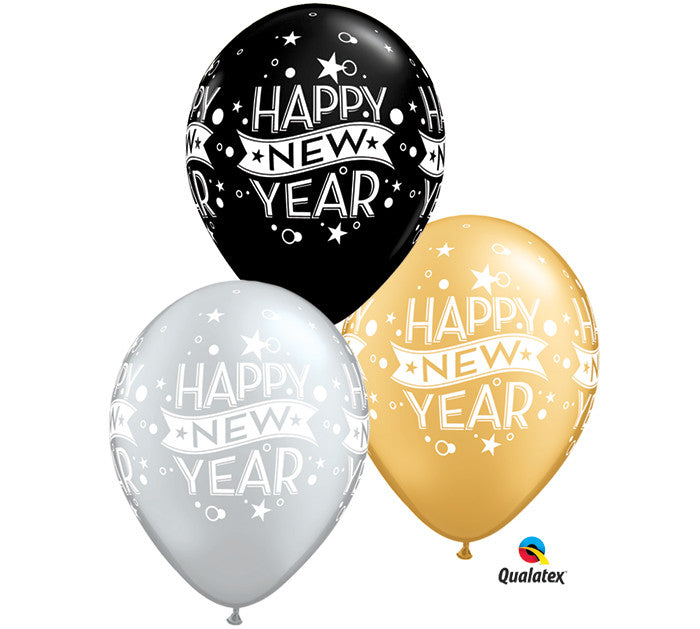"11"" Happy NEW YEAR balloons"