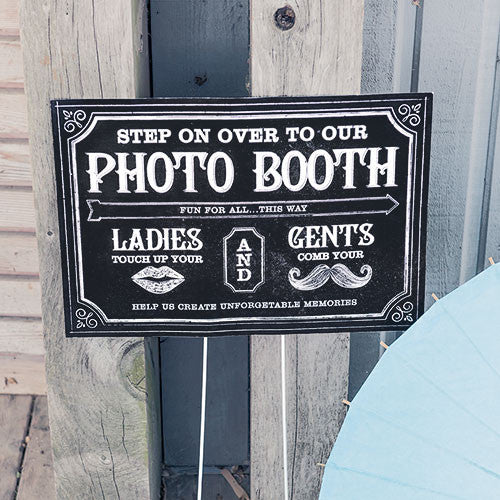 Directional Sign with Chalkboard Print Design
