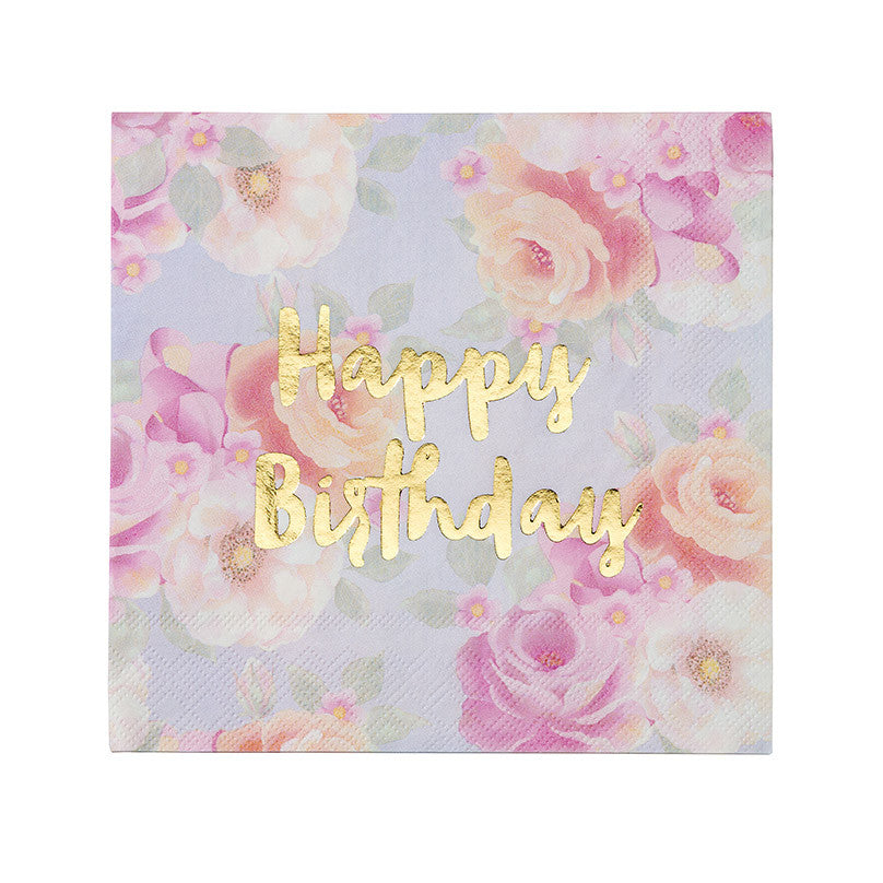 Scrumptious Happy Birthday 16 Napkins