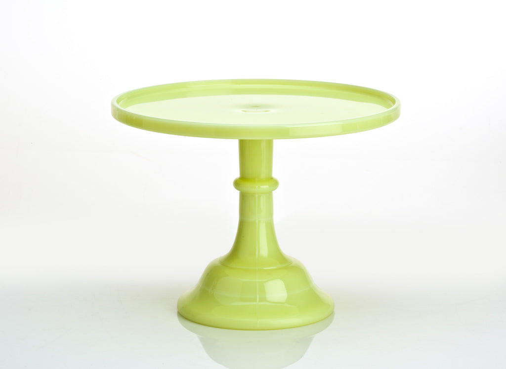 Milk Glass Cake Stand - Buttermilk 10""