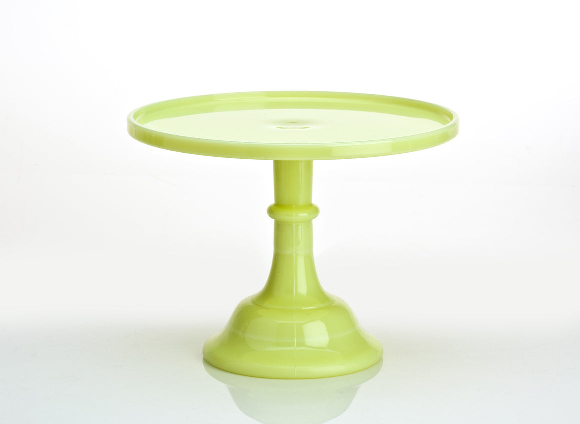 Milk Glass Cake Stand - Buttermilk 12""