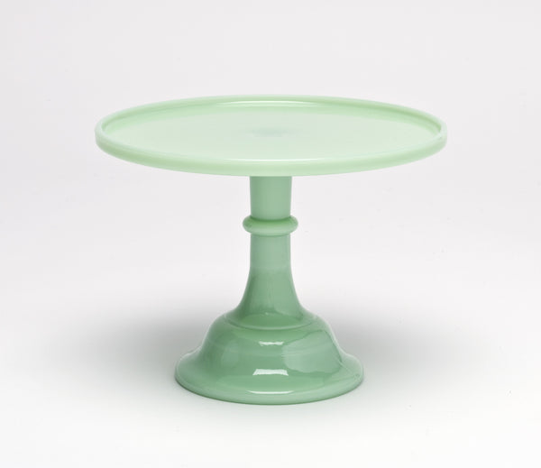 Milk Glass Cake Stand - Jade 10""