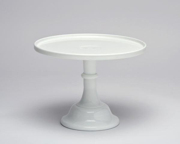 Milk Glass Cake Stand - White 9""