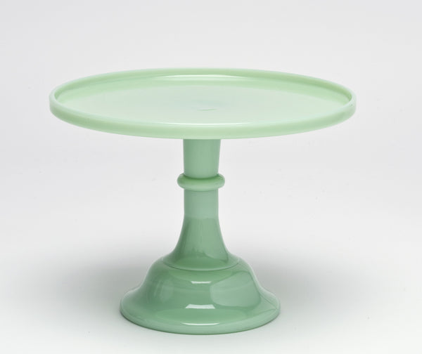Milk Glass Cake Stand - Jade 12""