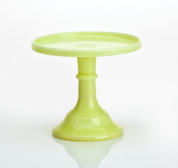 Milk Glass Cake Stand - Buttermilk 6""