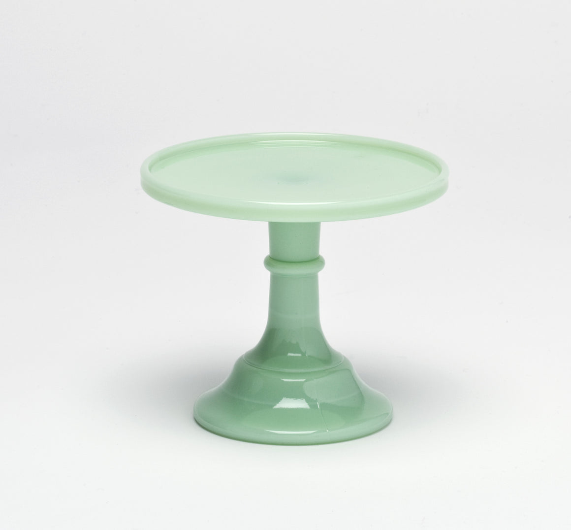 Milk Glass Cake Stand - Jade 6""