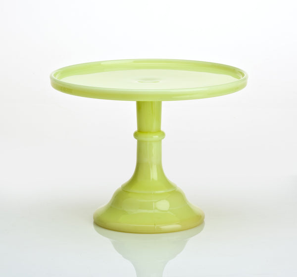 Milk Glass Cake Stand - Buttermilk 9""