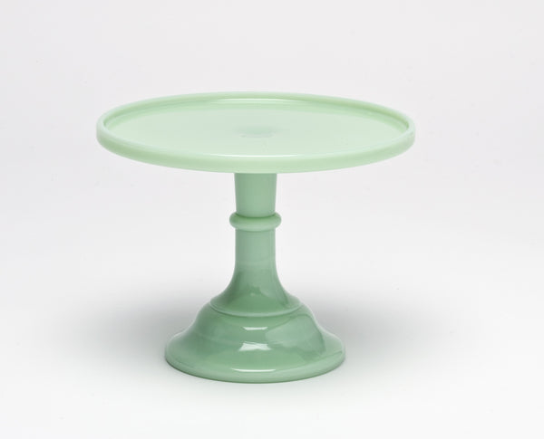 Milk Glass Cake Stand - Jade 9""