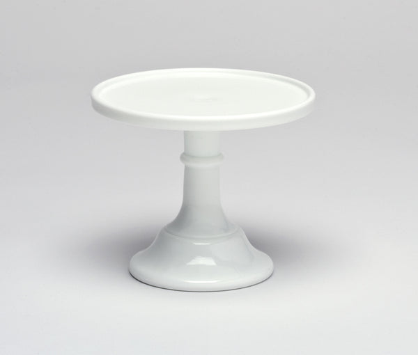 Milk Glass Cake Stand - White 6""