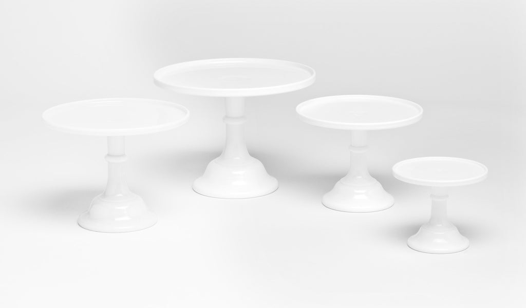 Milk Glass Cake Stand - White 12""