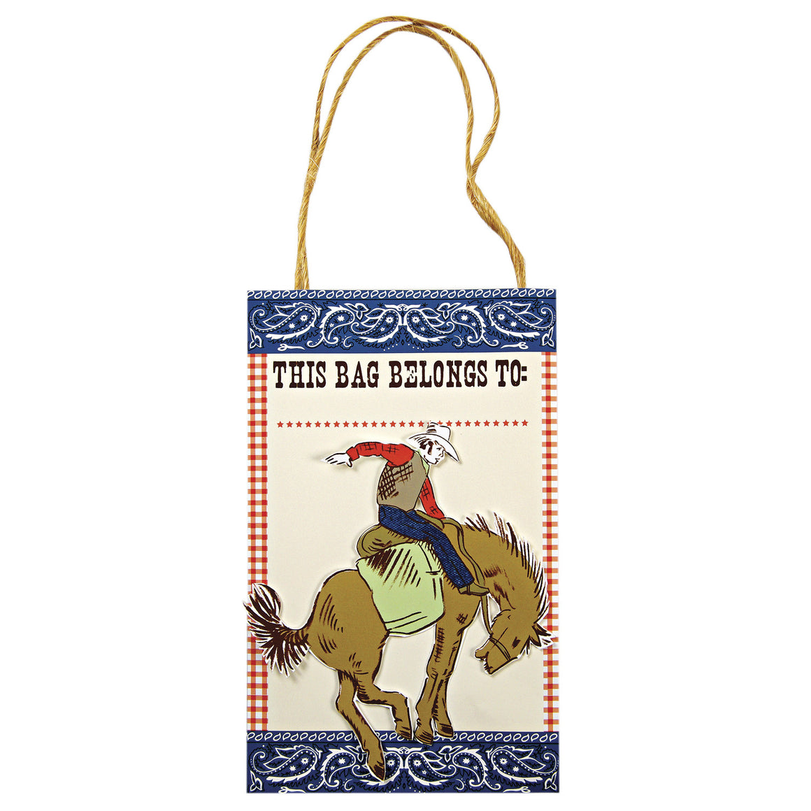 Howdy Cowboy 8 Party Bags