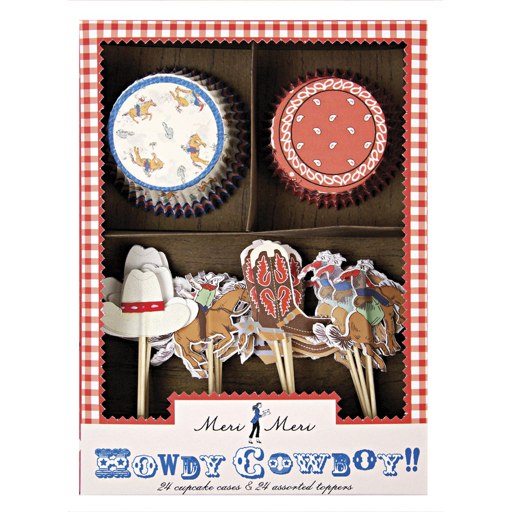 Howdy Cowboy 24 Cupcakes Kit