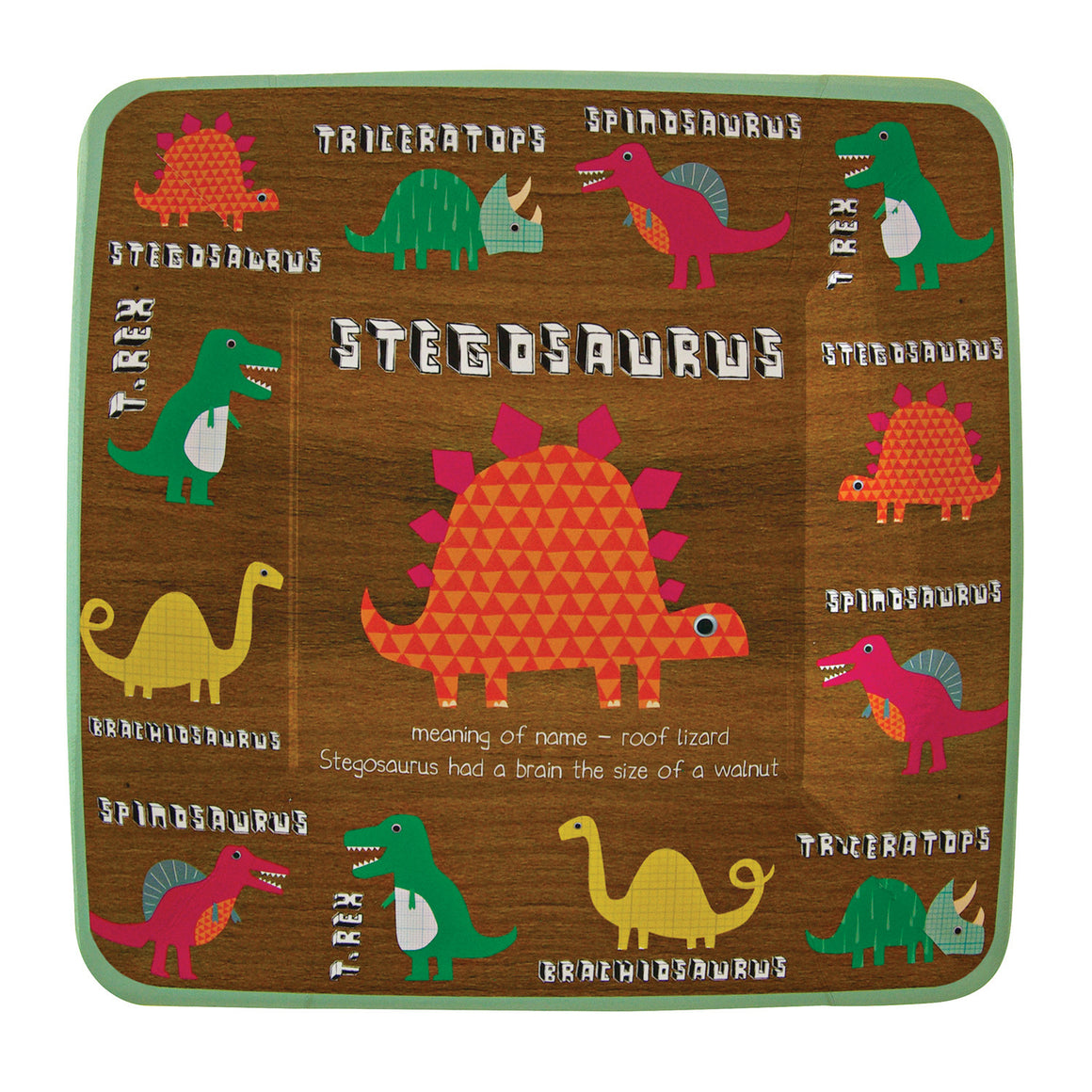 Dinosaur Square 12 Party Plates