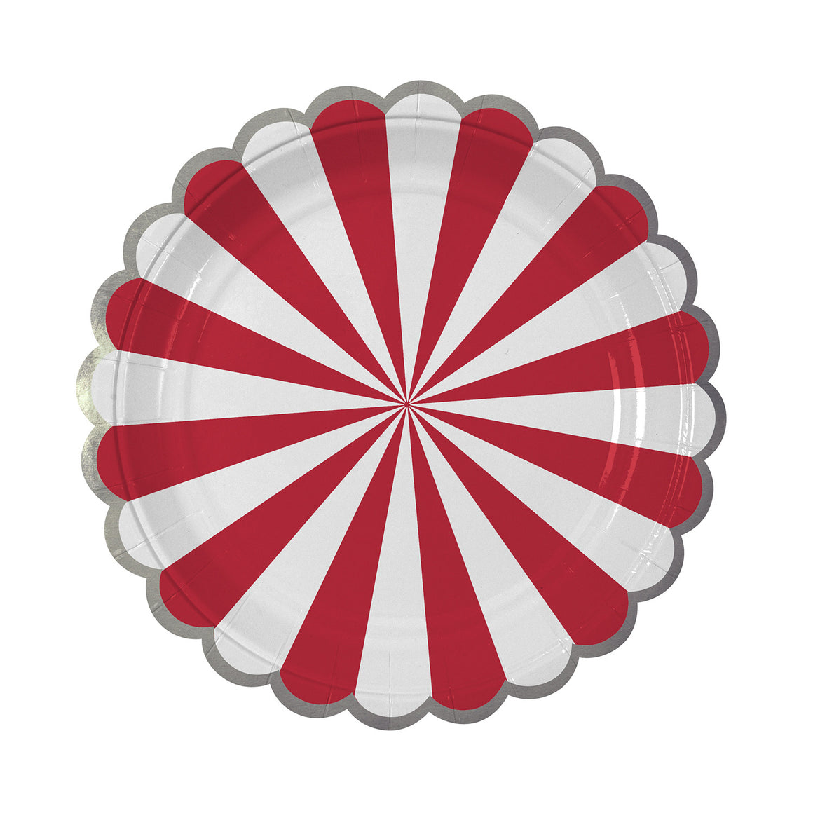 Stripe Red 8 Plates Small