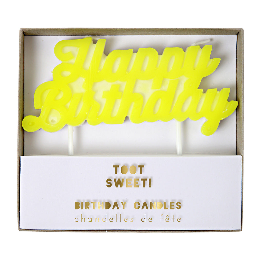 Toot Sweet Happy Birthday Candle