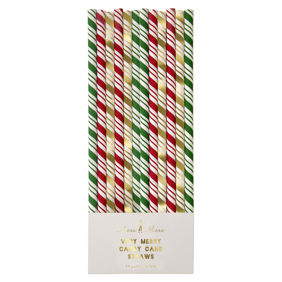 Candy Cane Stripey 24 Straws