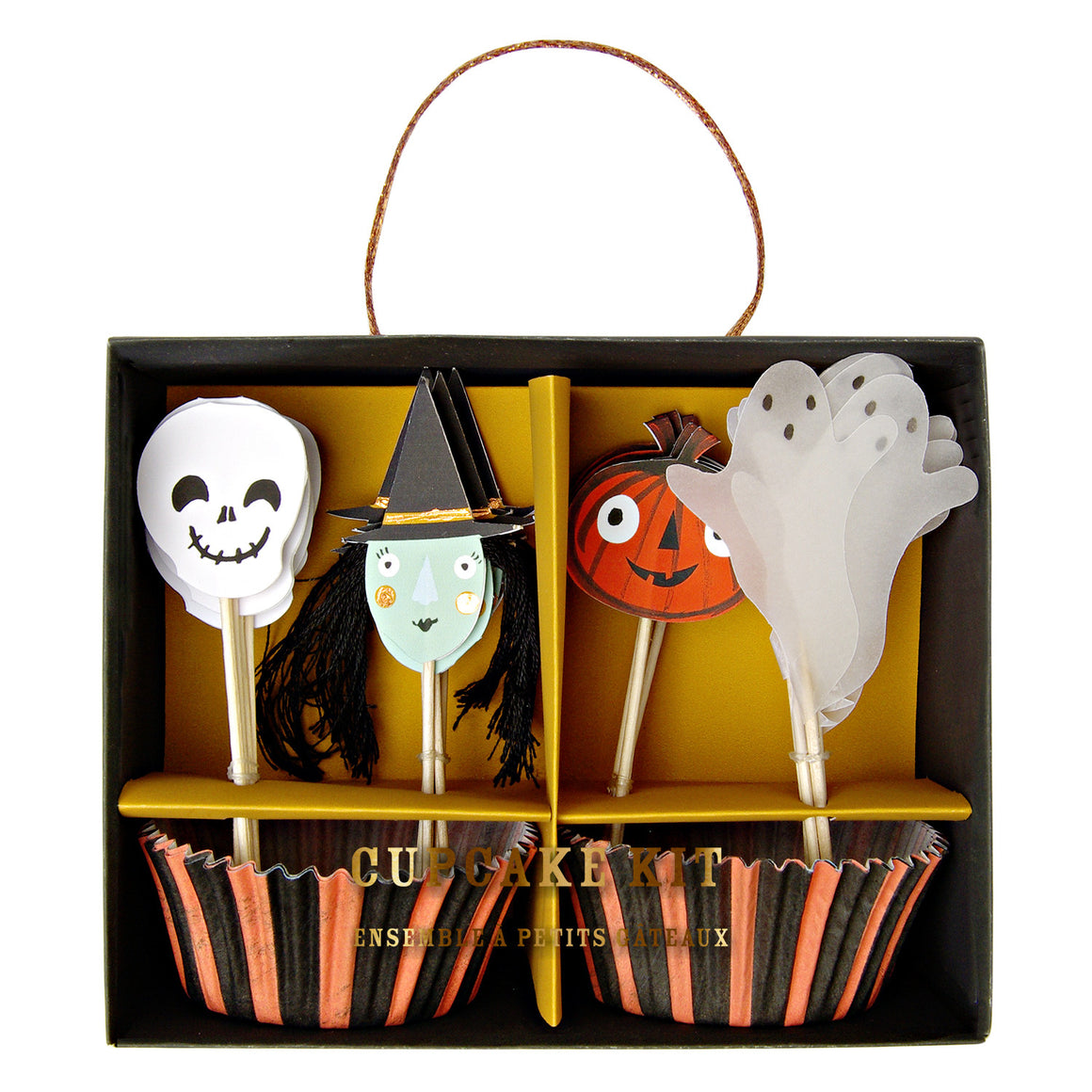 halloween, cupcake kits, witch, ghost, pumpkin, skeleton