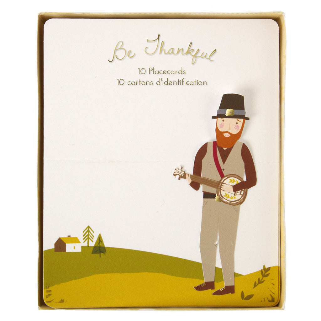 Pilgrims Thanksgiving 10 Place Cards