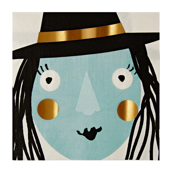 Foiled Witch Halloween 16 Napkins
