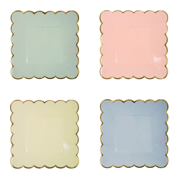 Pastel 8 Small Plates 4 assorted colors