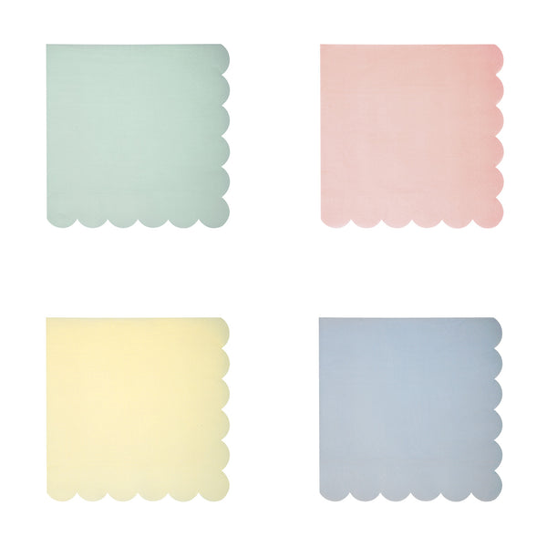 Pastel 4 Assorted colors 20 Small Napkins