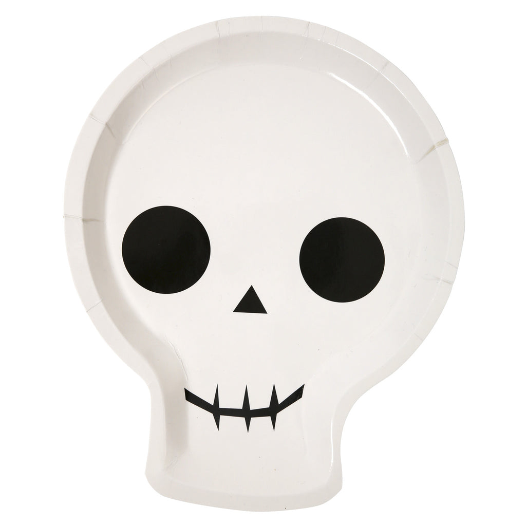 Halloween Skull Party 12 Plates